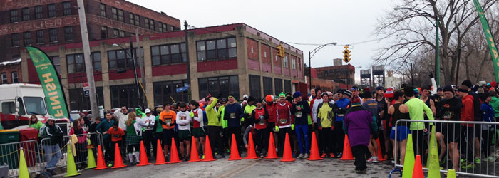 Shamrock Run 2014 start Buffalo, NY