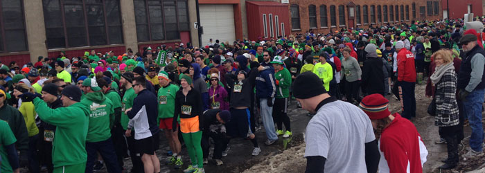 Shamrock Run 2014 start crowd