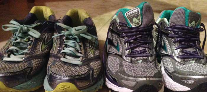 Brooks Ghost 6s and 7s