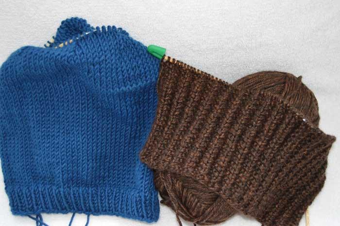 Knitting hat & scarf