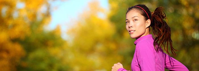 Runner thinking as she's running