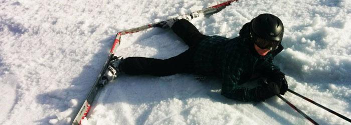 face plant skiing at Holiday Valley