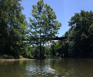 Railroad bridge in 18 Mile Creek