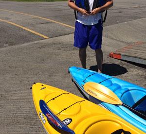 Kayak launch at 18 Mile Creek