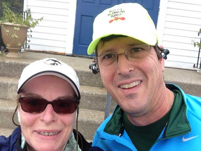 Porter & I after running Lindsay's Legacy 2014