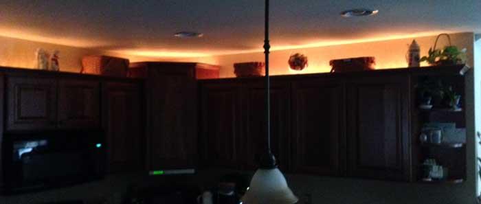 Above kitchen cabinet lights
