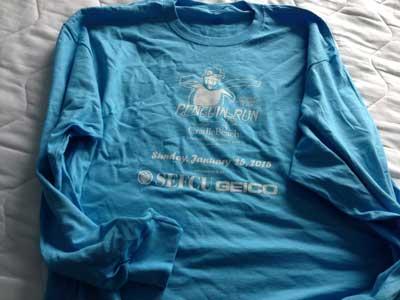 Penguin Run 2015 long sleeve t-shirt